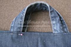 Как сшить сумку из старых джинсов