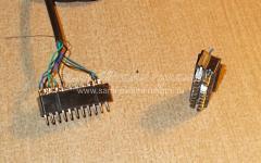 Ремонт видеошнура с разъёмами SCART