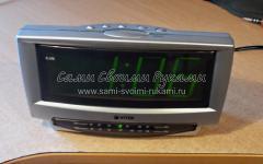 Ремонт радиоприёмника VITEK со встроенными часами