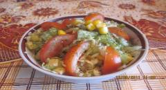 Салат летний - рецепт приготовления