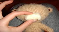 Как сделать мордочку к игрушке - валяние