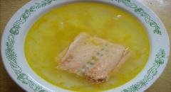 Уха из семги - рецепт приготовления