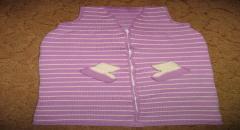 Спальный мешок для новорожденных с пинетками - спицами