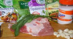 Буженина в фольге в ароматной смеси - рецепт приготовления