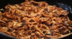 Паста с лисичками - рецепт приготовления с фото (мастер класс)