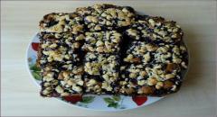 Рассыпчатый пирог с черникой - рецепт, фото (мастер класс)