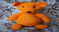 Беременная Медведица - вязаный крючком медведь, мастер класс