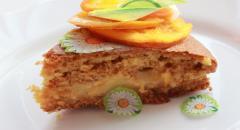Рецепт апельсинового бисквита с постным апельсиновым кремом и цукатами