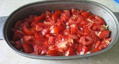 Кабачки с сыром и помидорами