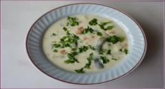 Сырный суп со спаржевой фасолью