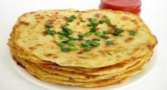 Рецепт лепешек с луком и зеленью