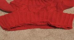 Шьем вязаное платье из старого свитера