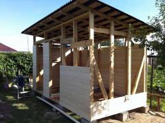 Строительство простого сарая на даче