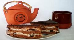 Рецепт торта с шоколадом и творожным кремом