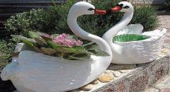 Как сделать лебедя для сада (часть 2)