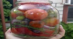 Помидоры с виноградом - консервируем на зиму