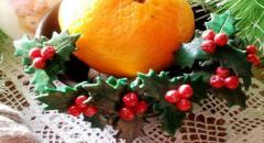Рождественский остролист из полимерной глины