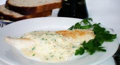 Как приготовить морского окуня, рецепт под сливочным соусом