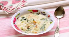 Чечевичный суп с молоком