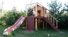 Домик для детей на даче в виде Корабля с трюмом - продолжение...