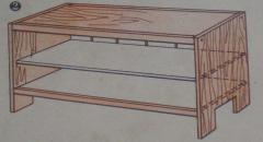 Делаем стол, тумбочку и этажерку из детской кроватки