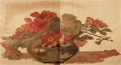 Вышивка крестиком - цветы в вазе