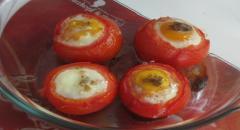 Необычная яичница - в помидорах - мастер класс с фото