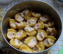 Макароны ракушки фаршированные фаршем, как приготовить - рецепт с фото