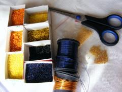 Золотая рыбка из бисера, как сделать