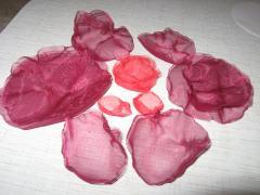 Цветы из органзы для украшения