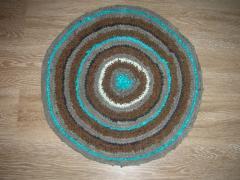 Домашний круглый коврик - вязание крючком, схема, фото, описание