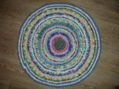Домашний круглый коврик - вязание крючком, схема, фото, описание Сами своими руками.