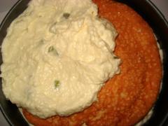 Нежный торт-суфле Инь-Янь с бисквитной прослойкой