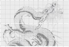 Картина Дракон - вышиваем крестиком, схема, фото, описание