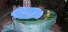 Жемчужная раковина для фонтана в саду