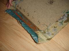 Перетяжка мягкого кухонного уголка