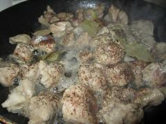Овощное рагу (мясо, картошка, капуста)