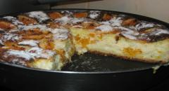 Пирог с мандаринами (творожный) - рецепт