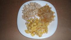 Нежный пирог с мясом и картошкой