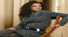 Платье, вязаное спицами - схема и фото