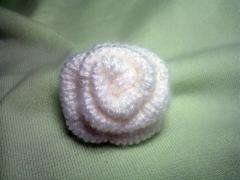 Роза - вязание спицами