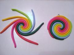 Серьги Цветная Карусель