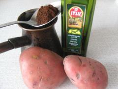 Картофельная маска - скраб для локтей