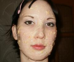 Японская маска для лица из рисовой муки и мякоти хурмы