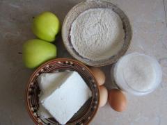 Вкусный пирог с яблоками из творожного теста - рецепт с фото