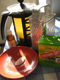 Отвар для ног с зеленым чаем и маслом зародышей пшеницы