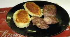 Зразы с сырной и грибной начинкой