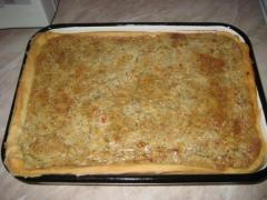 Пирог из кабачков с сыром Эдельвейс