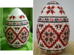 Яйца пасхальные из бисера - мастер класс, фото