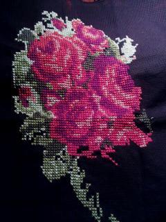 Сердце из роз - вышивка крестиком, фото, схема